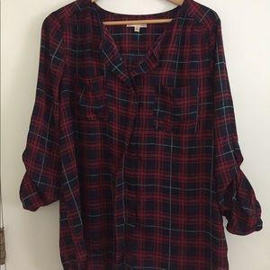 Dressy plaid shirt